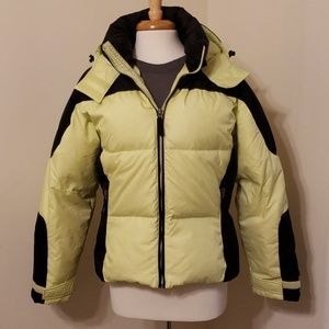 L.L. Bean Puffer Black and Green, Medium